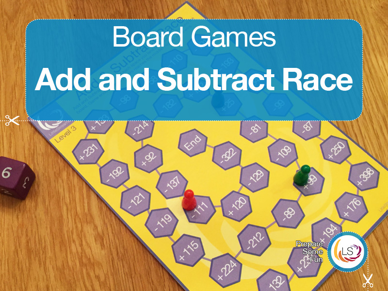 Add & Subtract Race | Board Game