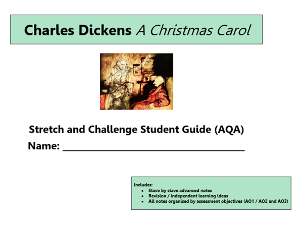 GCSE 9-1 AQA A Christmas Carol Scheme of Work / Learning