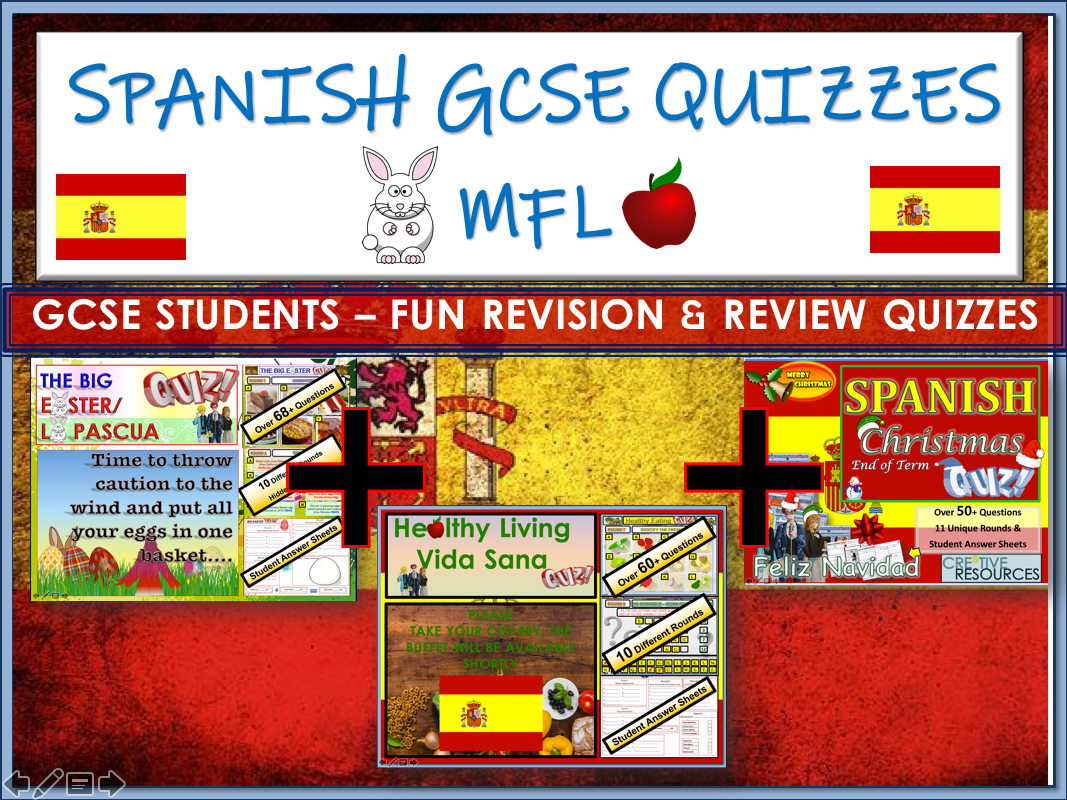 Spanish GCSE - 3 Quizzes