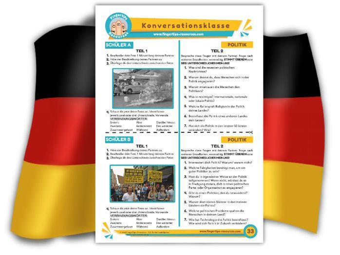 Politik - German Speaking Activity