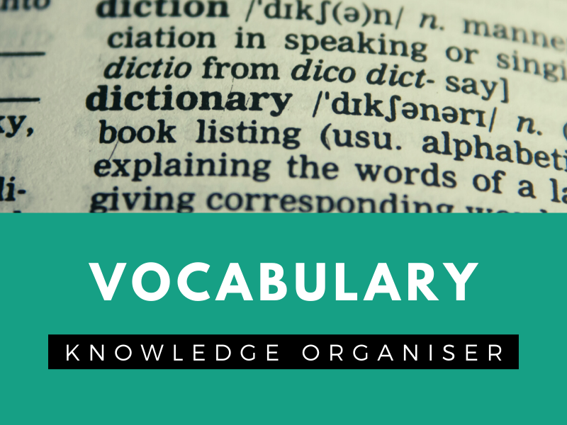 High Level Vocabulary - Reference Sheet