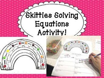 Skittles Math Solving Equations Activity!
