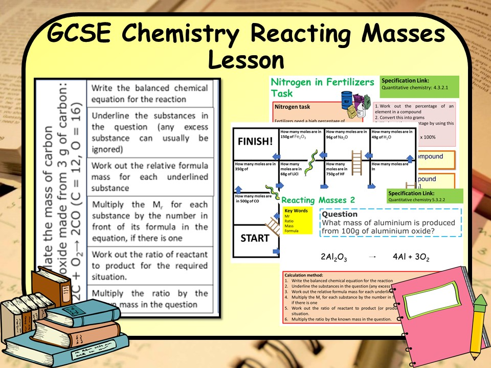 New GCSE Chemistry (Science) Percentage by Mass &  Reacting Masses Lesson