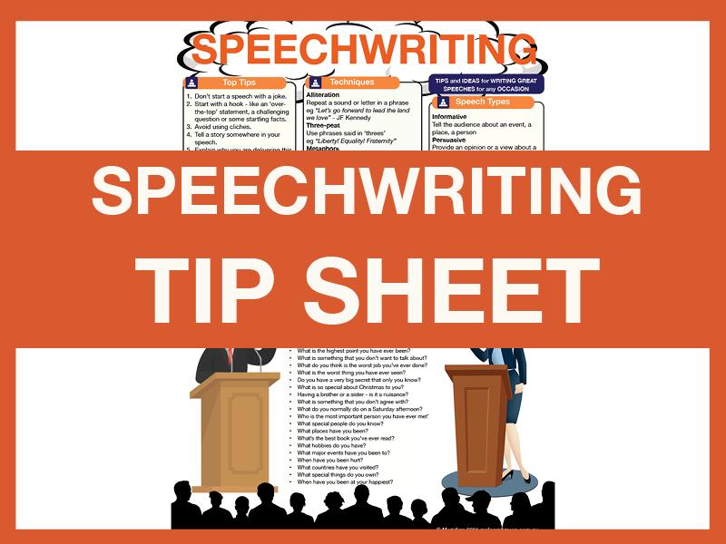 Speechwriting ****Tip Sheet****