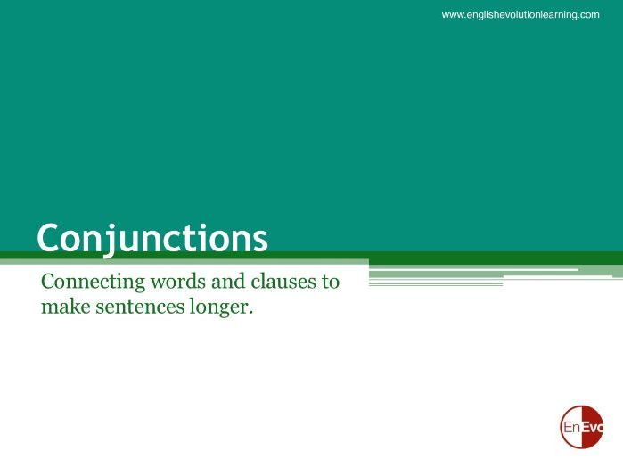 Conjunction Lesson Plans for Beginner and Elementary ESL Students
