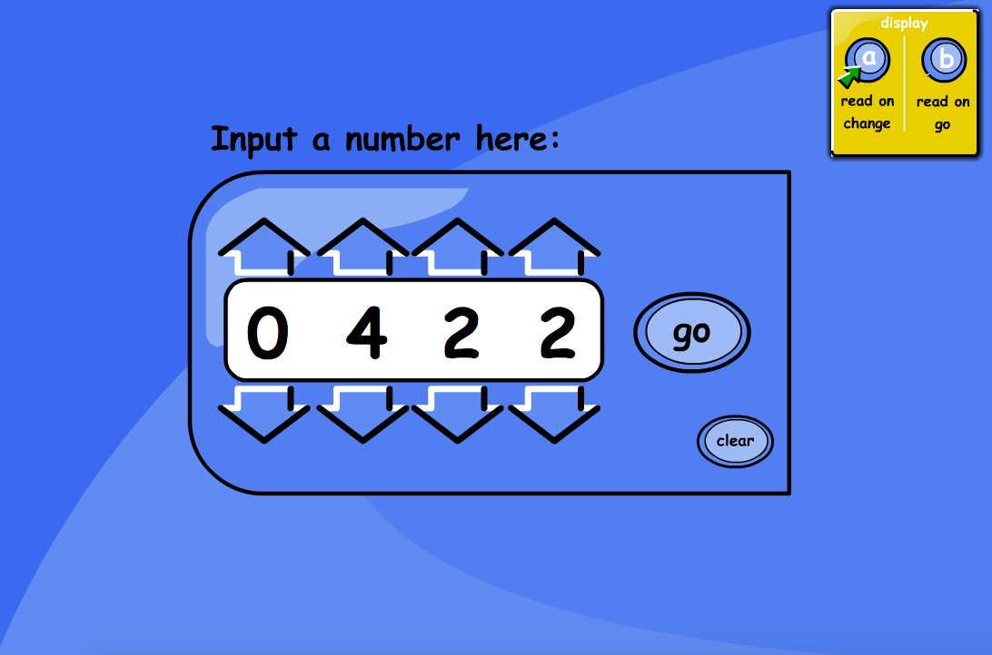 Number Reader Interactive Tool - KS1/KS2 Number