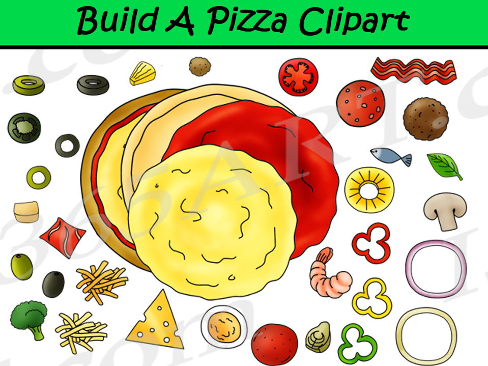 Build A Pizza Clipart Set