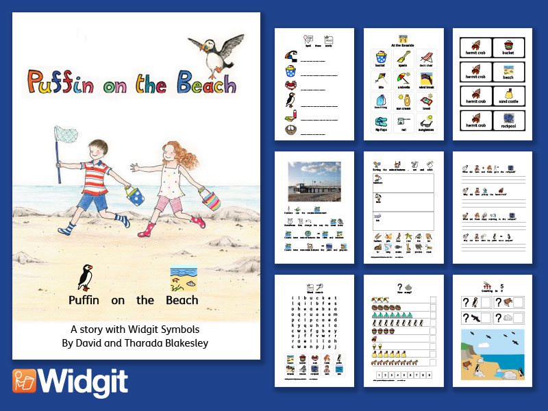 Puffin on the Beach - Resource Bundle with Widgit Symbols