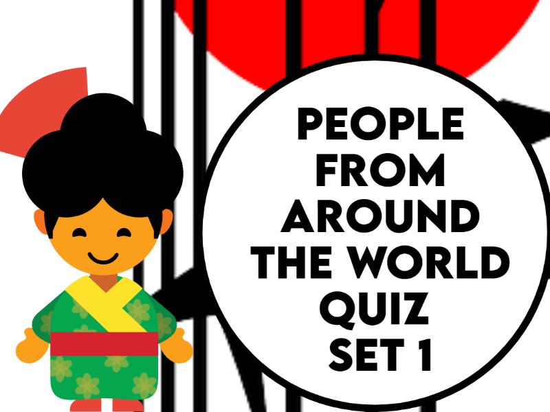 People From Around the World Caricature Quiz Set 1
