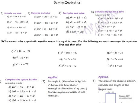 GCSE maths -  bundle