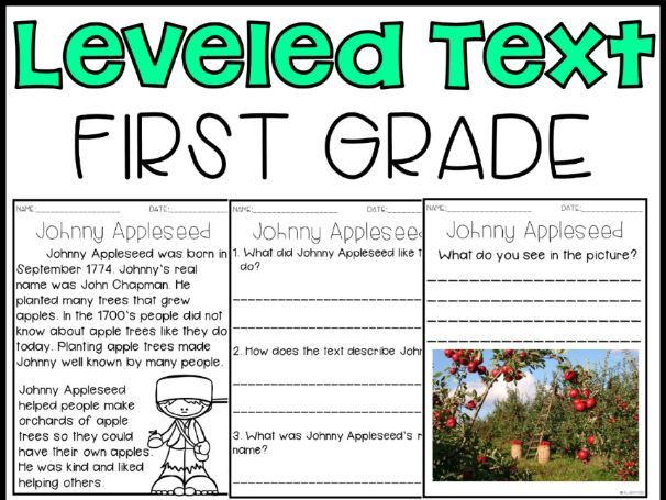 Leveled Text: 1st Grade
