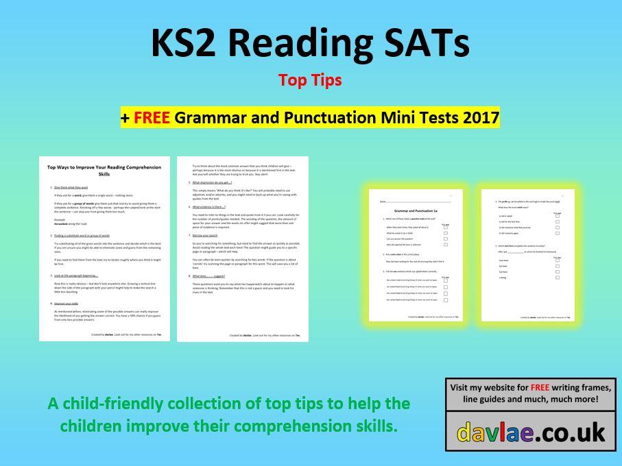 KS2 Reading Prehension Top Tips FREE GRAMMAR AND