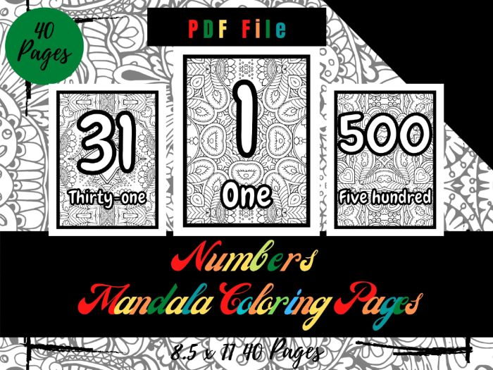 Numbers Mandala In the Background Coloring Pages For Kids, Sheets PDF, Printable Pages