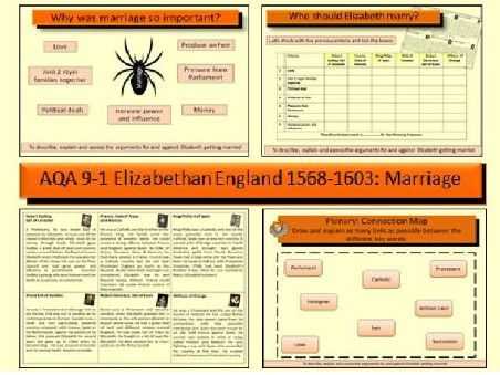 AQA GCSE History 9-1 Elizabethan England 1568-1603: Elizabeth and marriage