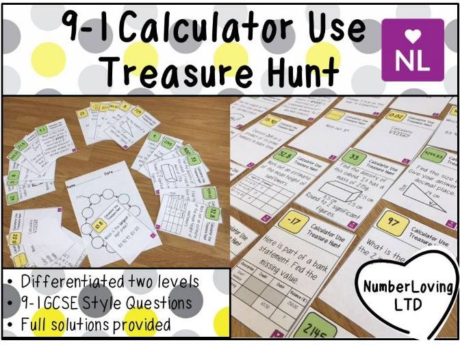 AQA Efficient Calculator Use Treasure Hunt GCSE 9-1