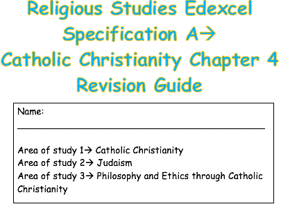 RS Catholic Christianity Edexcel Spec A Chapter 4