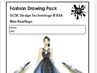 KS4 Fashion Drawing and Annotation Pack