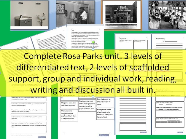Rosa Parks/Civil rights/Bus boycott  complete unit - 3 levels of differentiation!