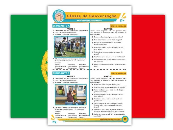 Criminalidade - Portuguese Speaking Activity
