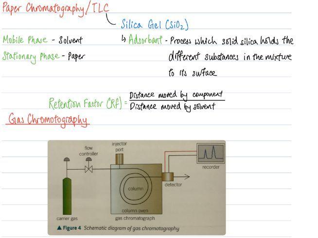 A Level Chemistry - Chromatography