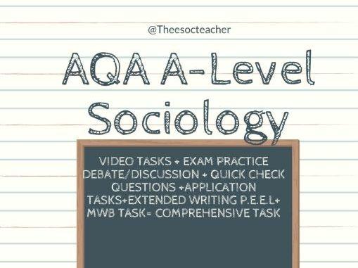 Media and Crime Unit AQA A Level Sociology