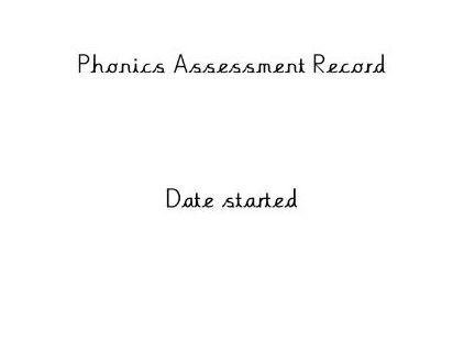 Phonics assessment tracker