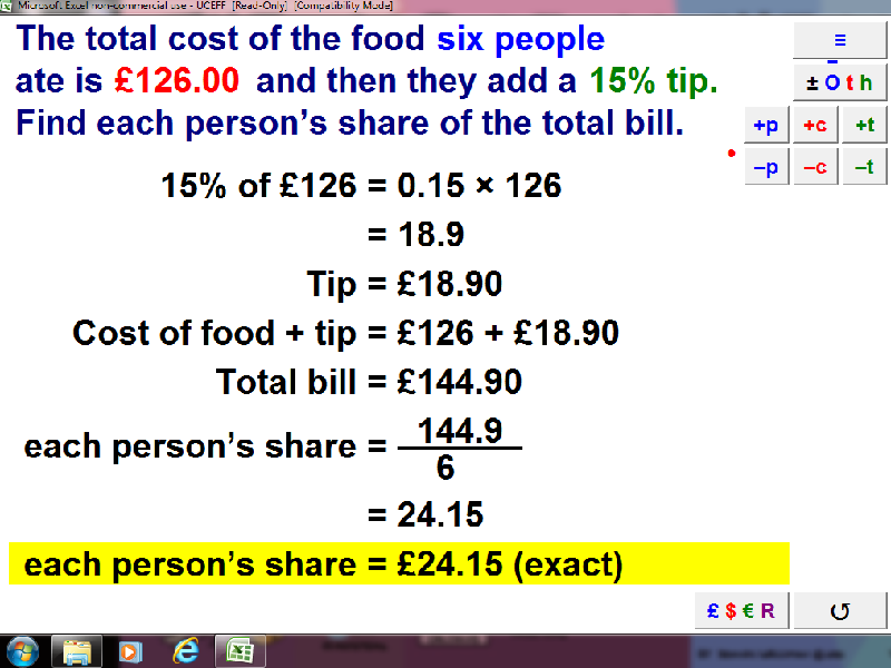 food bill calculator