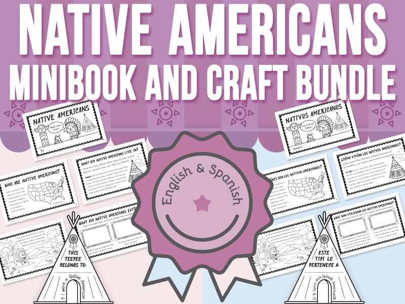 Native Americans Mini-Books and Crafts BUNDLE