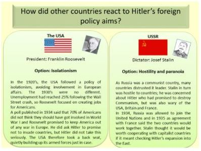 AQA GCSE 9-1 Conflict and Tension 1918-1939: How did countries react to Hitler's aims?