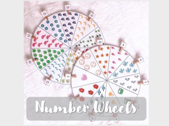 Number Recognition Wheels