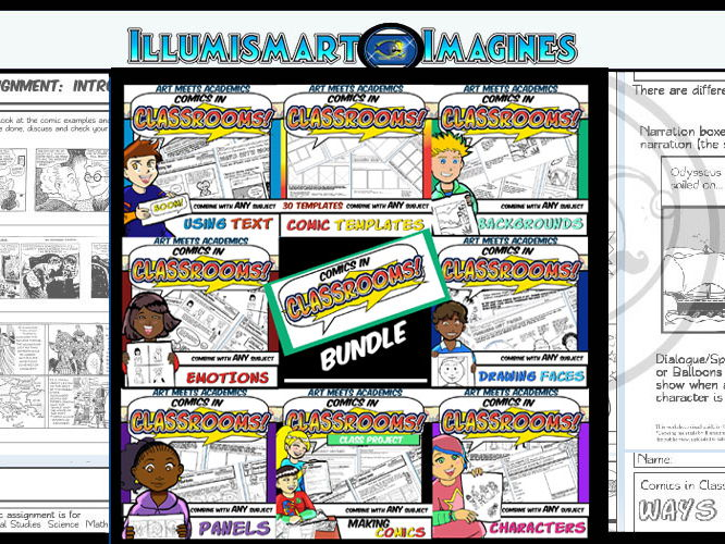 Comics in Classrooms: Full Bundle Lessons 1-11 (3 Weeks of Lessons!