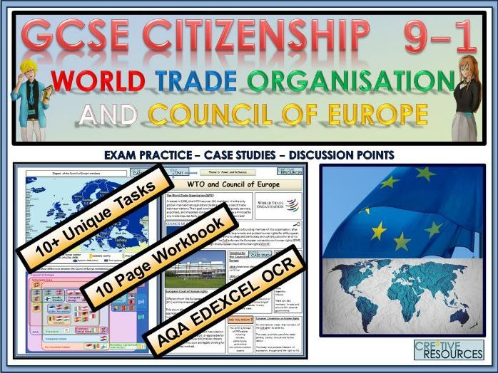 GCSE Citizenship (9-1)  - World Trade Organisation and Council of Europe