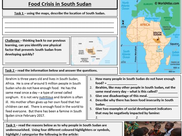 Food Crisis in  South Sudan