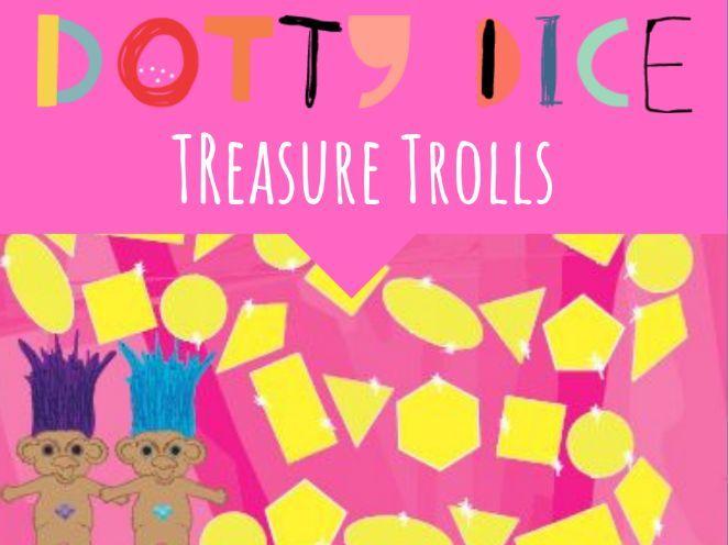 Geometry Board Game - Treasure  Trolls - Identify 2D Shapes