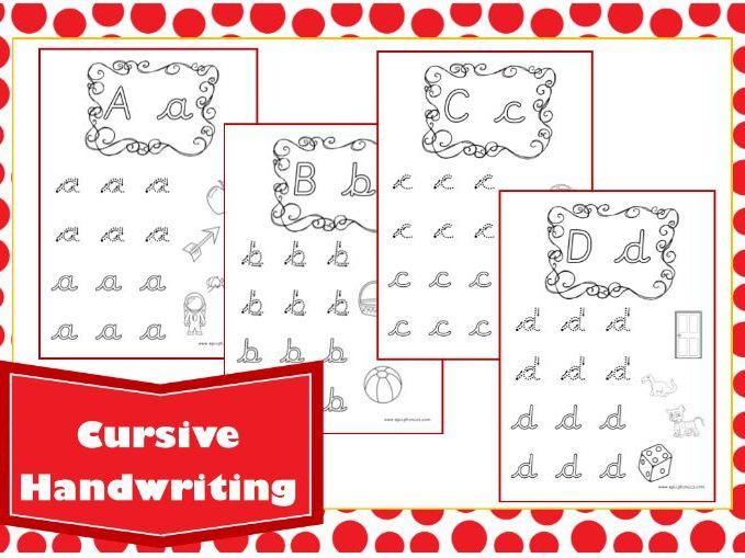 Cursive Alphabet Handwriting Worksheet
