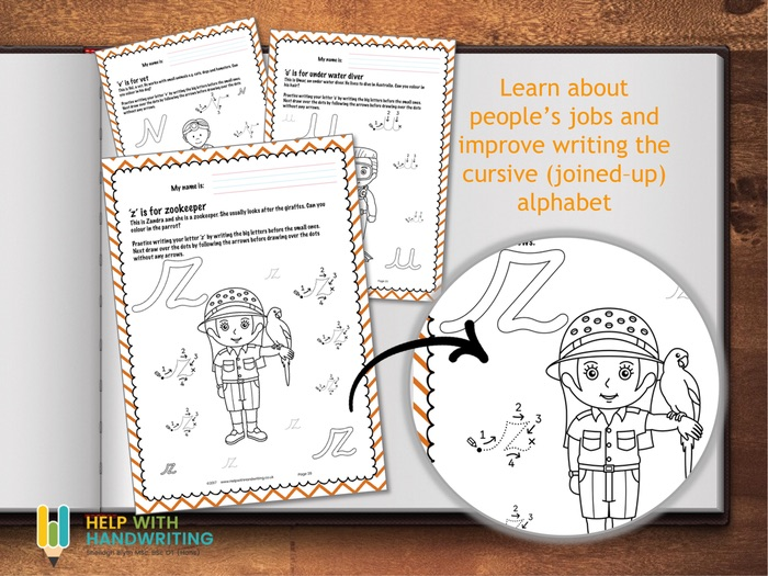 Peoples Jobs ABC worksheets