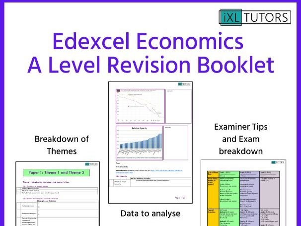 A Level Economics FULL REVISION BOOKLET: 86 Pages
