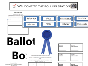 General Election Classroom Bundle - Run an Election, Create a role play,  Maths and English Activities