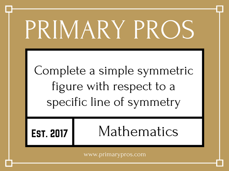 Complete a simple symmetric figure with respect to a specific line of symmetry