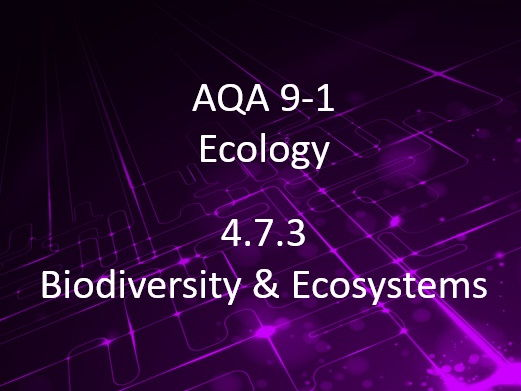 New AQA (9-1) GCSE Biology Ecology – Biodiversity, Effect of Human Interaction on Ecosystems (4.7.3)