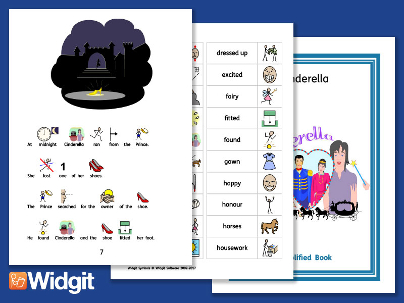 Cinderella - Story Pack with Widgit Symbols