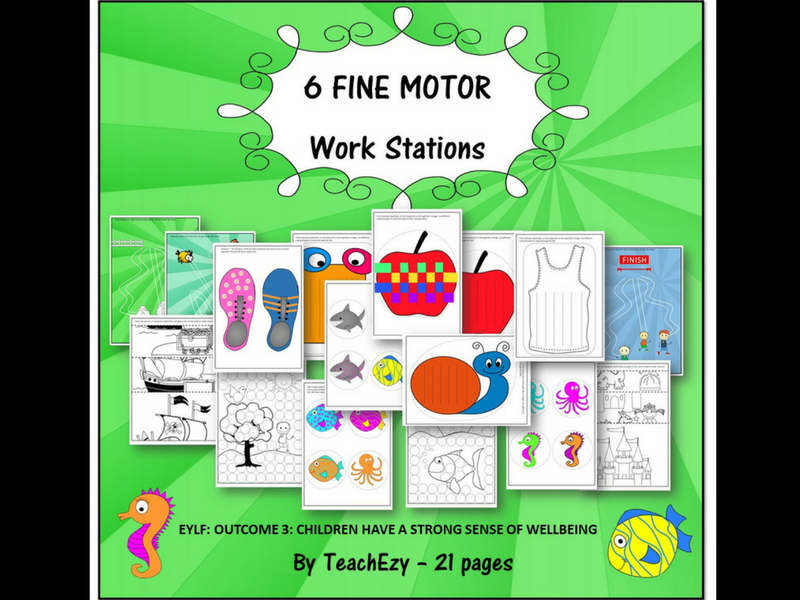 Fine Motor Work Stations