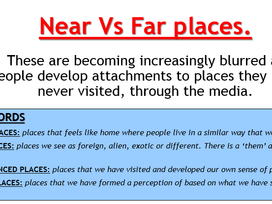 AQA Changing Places - L3 Media and Place (Lesson and Resources)