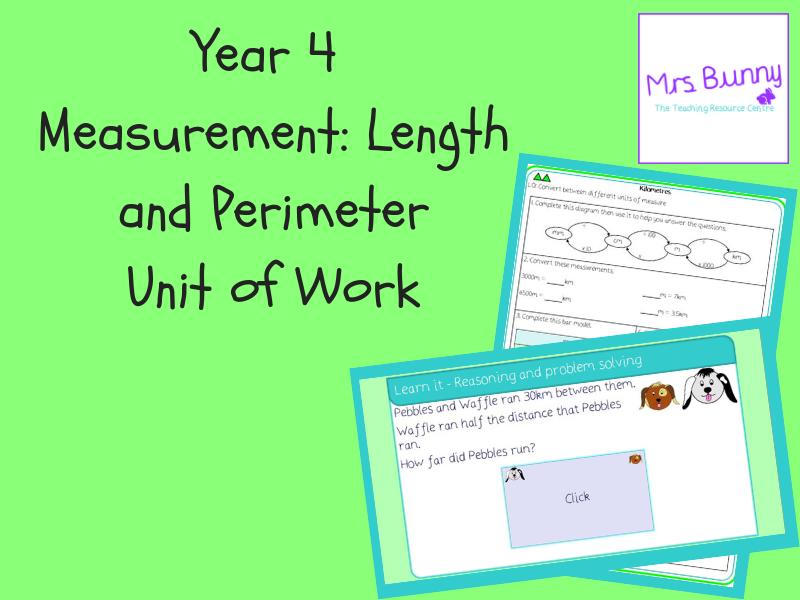 Year 4 Measurement: Length and Perimeter Unit Pack