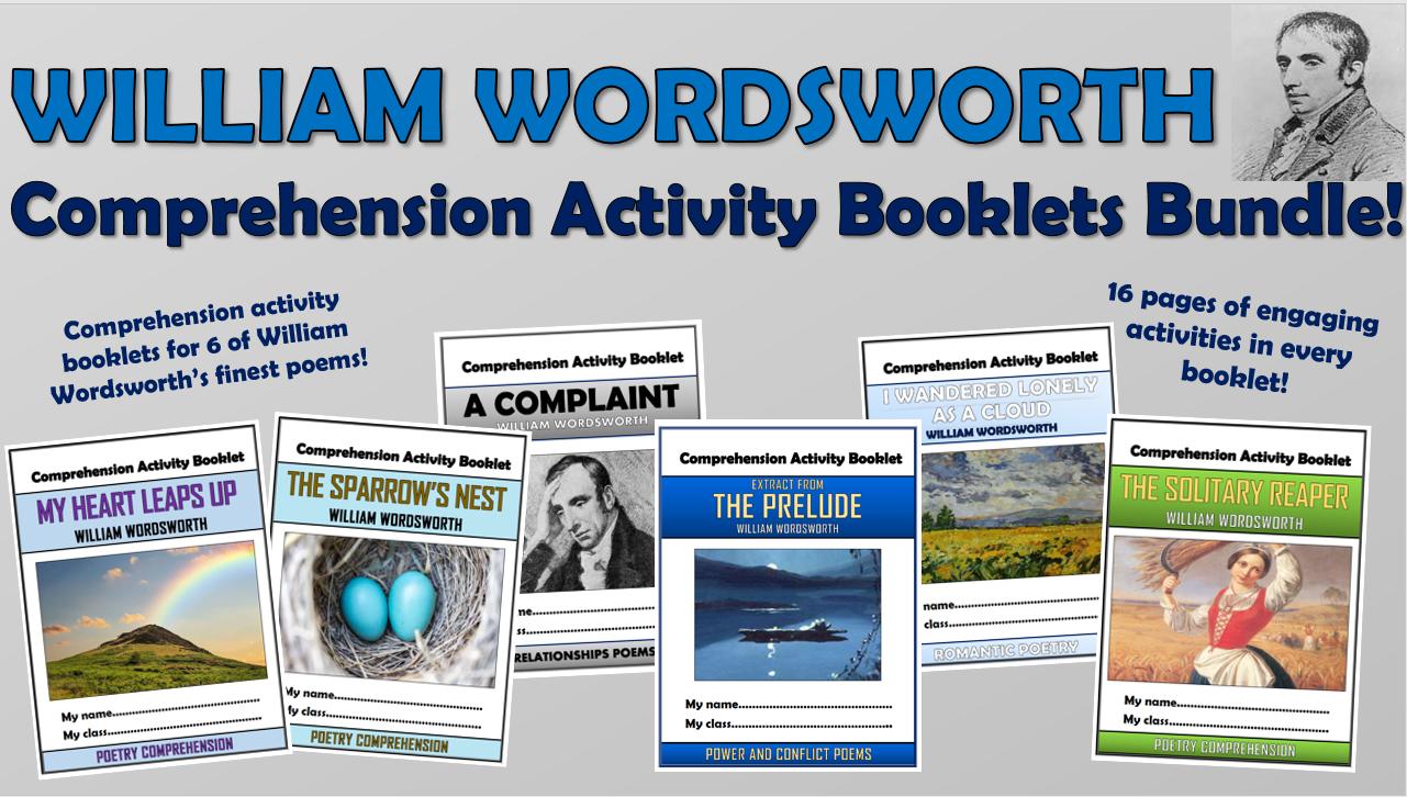 William Wordsworth - Comprehension Activity Booklets Bundle!