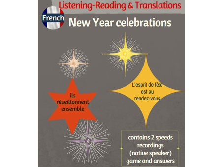 New Year celebrations -listening,reading & translations (including native recordings)