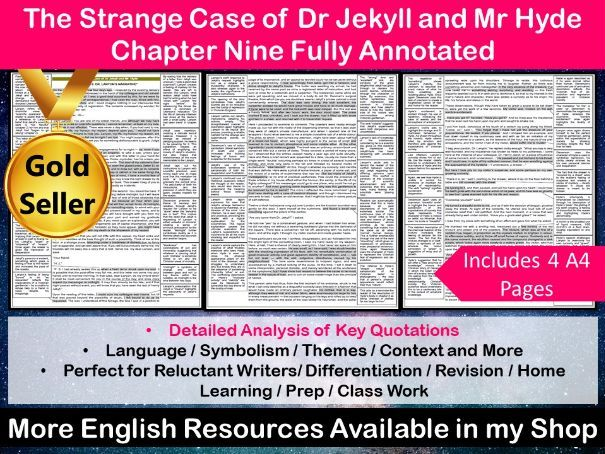 The Strange Case of Dr Jekyll and Mr Hyde Chapter 9 Fully Annotated