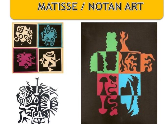 Matisse and Notan art , shape and pattern (part of the formal elements SOW)
