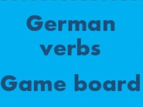 German Verbs Game board for Smartboard