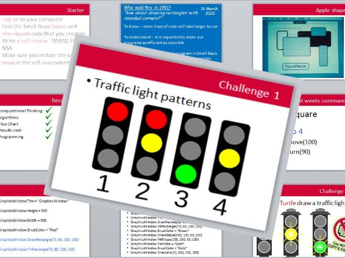 Small Basic - Lesson 4 - traffic lights